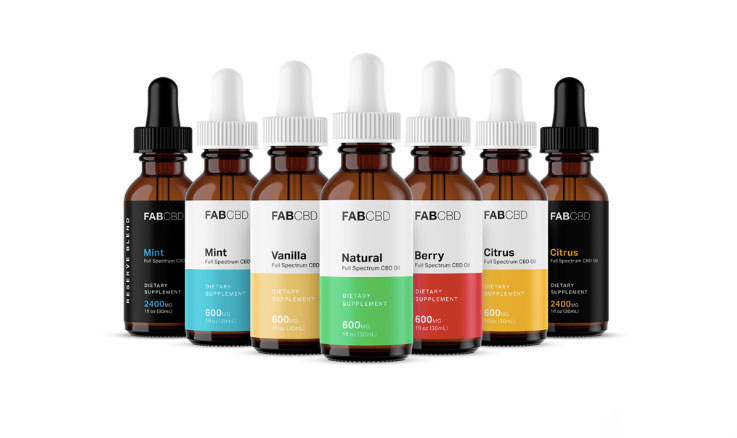 Fab CBD 1200 mg Premium CBD Oil Drops